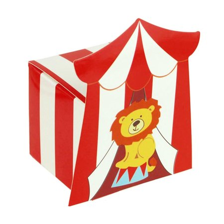 Circus Lion Baby Shower Favor Boxes, 2-Inch, 12-Piece - Circus Themed Favors