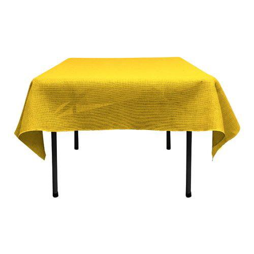 LA Linen Square Dyed Burlap Tablecloth by LA Linen