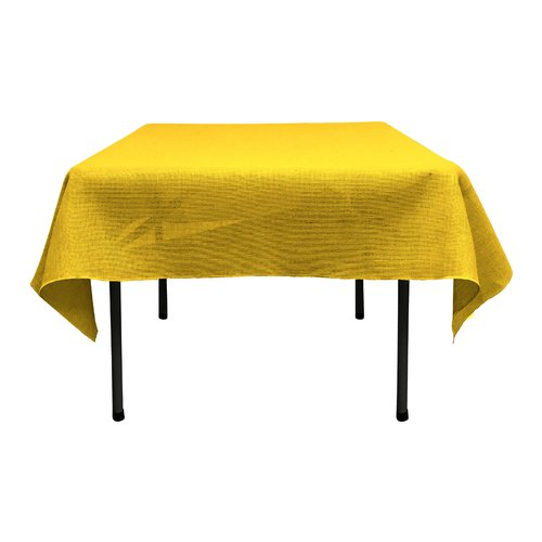 LA Linen Square Dyed Burlap Tablecloth