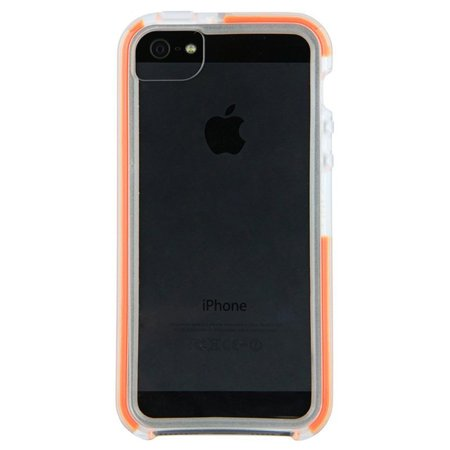 Tech21 Impact Band Clear Back Orange Bumper Case for Apple iPhone 5 5s