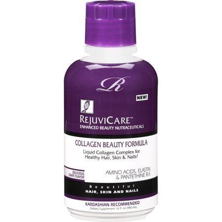 Rejuvicare Collagen Beauty Formula Grape Flavor Dietary Supplement, 16 oz