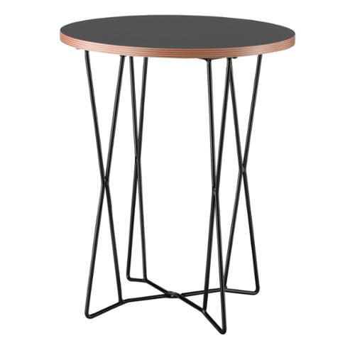 Adesso Black Network End Table by Overstock