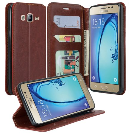 Galaxy On5 Case, Samsung Galaxy On5 Wallet Case, Flip Folio [Kickstand Feature] Pu Leather Wallet Case with ID & Credit Card Slots For Galaxy On5,