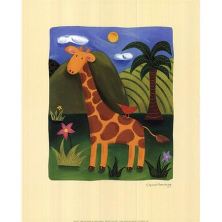 Gerry the Giraffe Poster Print by Sophie Harding (10 x 12)