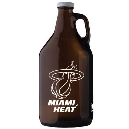 - Miami Heat 64oz. Glass Jug - Amber - No Size