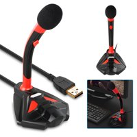 Professional Omnidirectional Microphone, USB LED MIC Stand, Perfect for Recording Youtube/Interview/Video Conference/Podcast/Voice Dictation/Studio Gaming/ASMR/Live broadcast