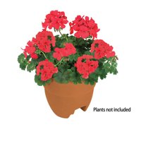 Bloomers Post Planter  Both Permanent and Temporary Installation Options  Garden in Tight Spaces  Terracotta