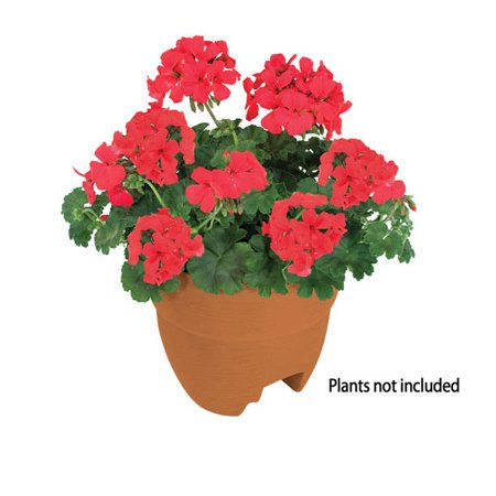 Urn Weathered Terra Cotta (Bloomers Post Planter – Both Permanent and Temporary Installation Options – Garden in Tight Spaces – Terracotta )