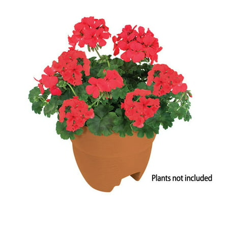 Bloomers Post Planter – Both Permanent and Temporary Installation Options – Garden in Tight Spaces – Terracotta ()