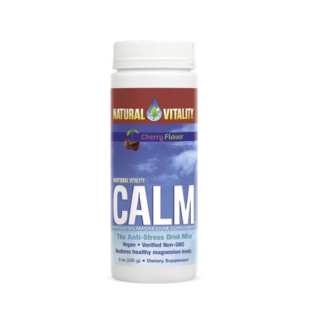 Natural Vitality Calm, The Anti-Stress Dietary Supplement Powder, Cherry - 8 ounce