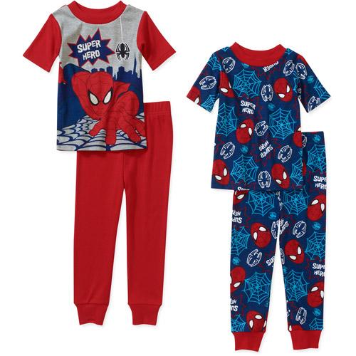 Marvel Baby Boys' Spiderman 4 Piece Cotton Short Sleeve PJ Set