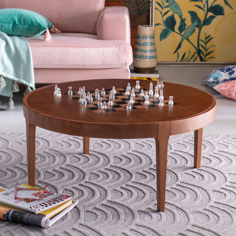 Game Board Wood Coffee Table By Drew Barrymore Flower Home Walmart Com Walmart Com