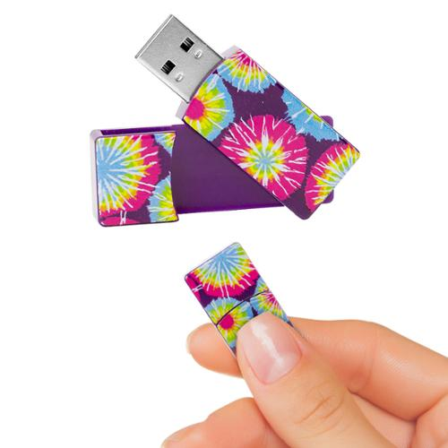 EMTEC Swivel Series 4GB USB 2.0 Flash Drive (Tie Dye)