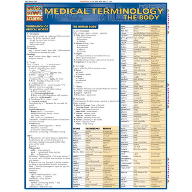 BarCharts- Inc.  9781572225411 Medical Terminology- The Body