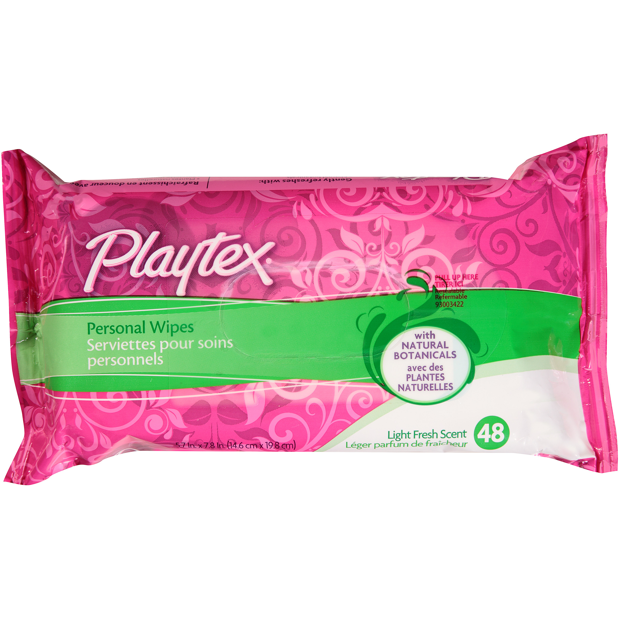 Playtex Personal Wipes With Natural Botanicals - 48 Count