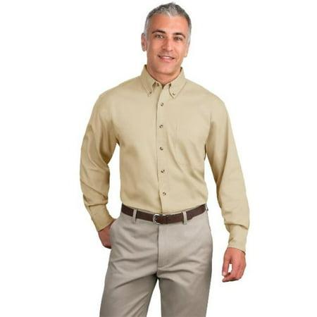 Port Authority® Tall Long Sleeve Twill Shirt.  Tls600t Stone 4Xlt - image 1 de 1