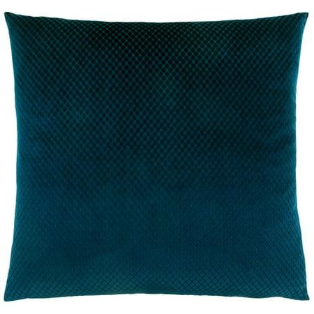 Monarch Diamond Velvet Throw Pillow in Blue