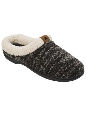 af196407d Product Image Dearfoams Women's Clog with Tab and Stitch Detail Memory Foam  Slipper (Large, Black)