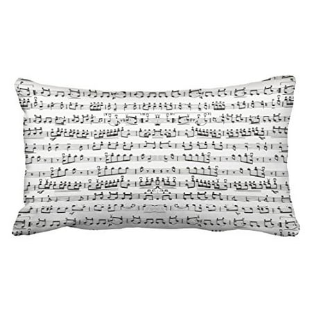 WinHome Decorative Black White Music Notes Decorative Throw Pillows Custom Throw Pillow Case Personalized Cushion Cover Pillowcase Pillow Cover Size 20x30 inches Two Side
