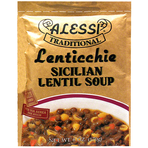Alessi Sicilian Lentil Soup Mix, 6 oz (Pack of 6) by Alessi
