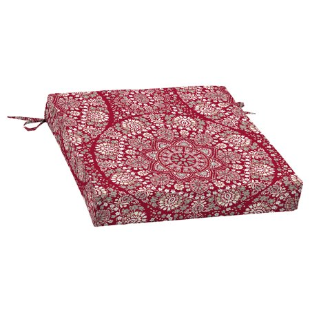 Red Cushions (Better Homes & Gardens Outdoor Patio Red Medallion 21 x 21 in. Dining Seat Cushion)