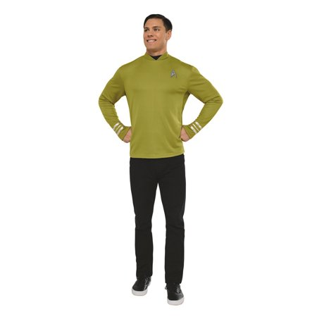 Star Trek Mens Beyond: Captain Kirk Classic Adult Shirt Halloween Costume Captain Kirk Uniform