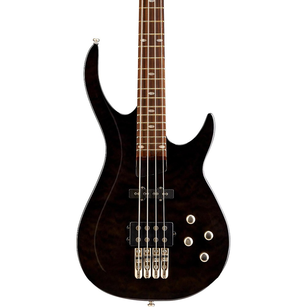 Rogue LX400 Series III Pro Electric Bass Guitar Transparent Black by Rogue