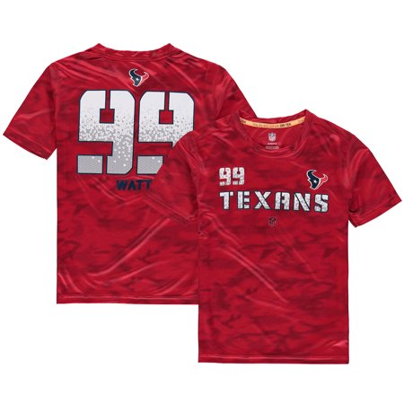 meet 50150 0444b J.J. Watt Houston Texans Youth Vector Camo Dri-Tek Name & Number T-Shirt -  Red - Walmart.com