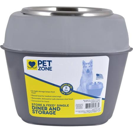 Pet Zone Store-N-Feed Single Dog Feeder- - image 1 de 1