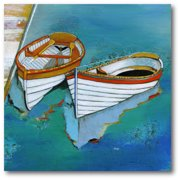 Courtside Market Rowboat Reflection Gallery-Wrapped Canvas Wall Art, 16x16