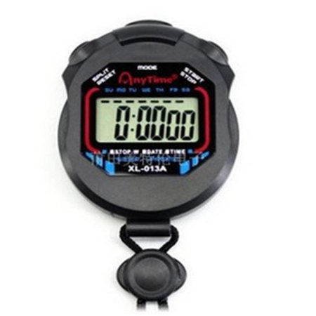 Multi-function Electronic Sports Stopwatch Timer Water Resistant,Large Display with Date Time,Ideal for Sports Coaches Fitness Coaches and