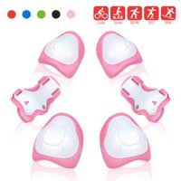 QUANFENG QF Knee Pads 6 PCS Kids Knee and Elbow Pads Wrist Guards for Roller Skates Cycling Pink