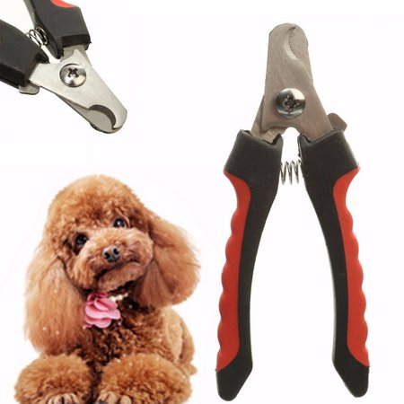 Stainless Steel Cat Dog Pet Nail Claw Toe Clippers Trimmers Cutter Grooming Tool ()