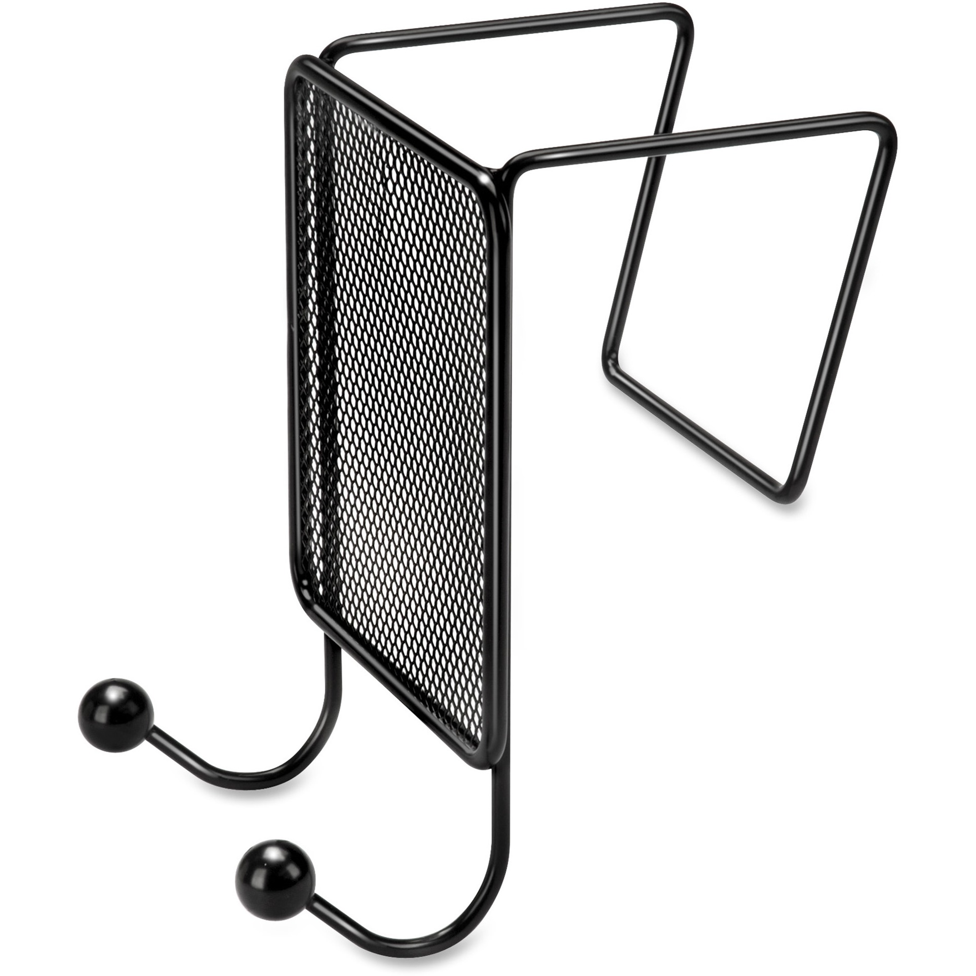 Fellowes Mesh Partition Additions Double Coat Hook, Black, 1 Each (Quantity)