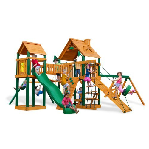 Gorilla Playsets Blue Ridge Pioneer Peak Wood Swing Set