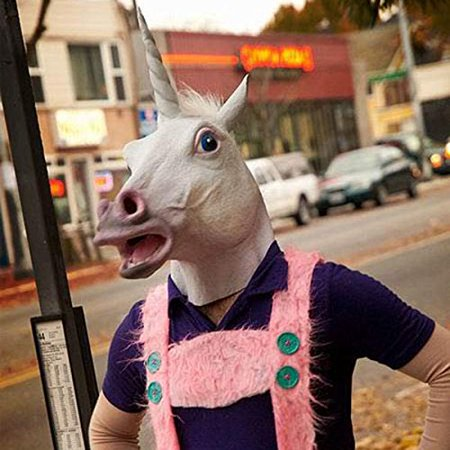 Halloween Mask White Unicorn Dance Fashion Latex Masks - Fashion Halloween Pics