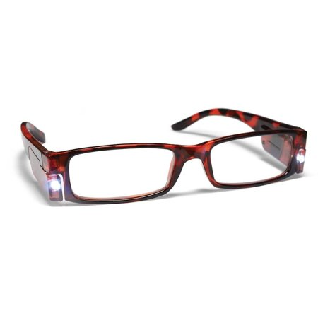 Locations Tortoise Shell Finish - PS Designs 01441 - LED Tortoise Shell Frame +1.50 Lighted Reading Glasses