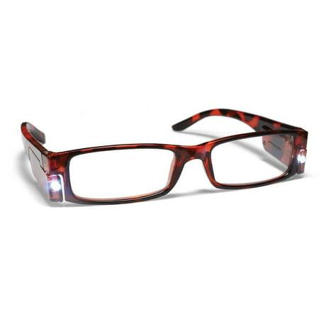 PS Designs 01441 - LED Tortoise Shell Frame +1.50 Lighted Reading Glasses - Glasses With Led