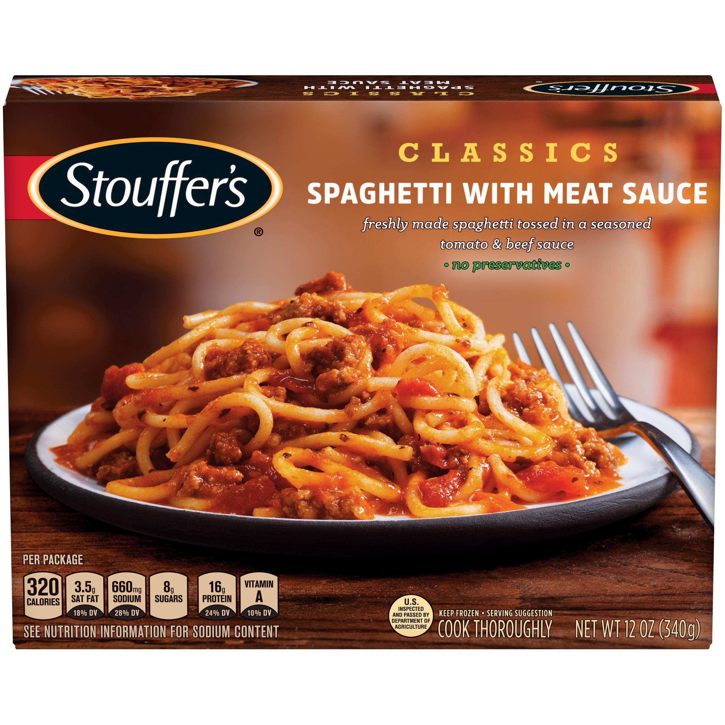 STOUFFER'S CLASSICS Spaghetti with Meat Sauce 12 oz. Box
