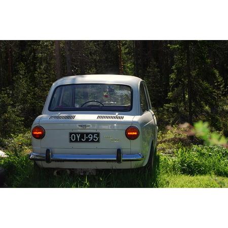 Framed Art For Your Wall Car Fiat 850 Resto Old Summer Model 10x13 Frame