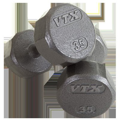 VTX by Troy Barbell 12-Sided Cast Iron Iron Dumbbell