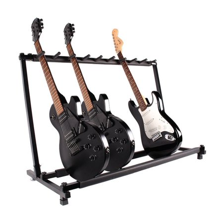 Multiple Guitar Folding Rack Storage Organizer Electric Acoustic Stand Holder