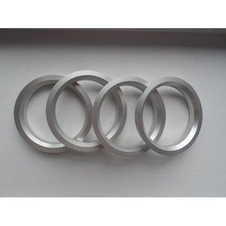 A set of aluminium hub centric ring size ID 56 1 mm x OD 72 62 mm
