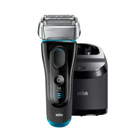Braun Series 5 5190cc Men's Electric Foil Shaver with Clean & Charge System ($15 Instant Coupon Available), Wet and Dry, Pop Up Precision Trimmer, Rechargeable and Cordless Razor