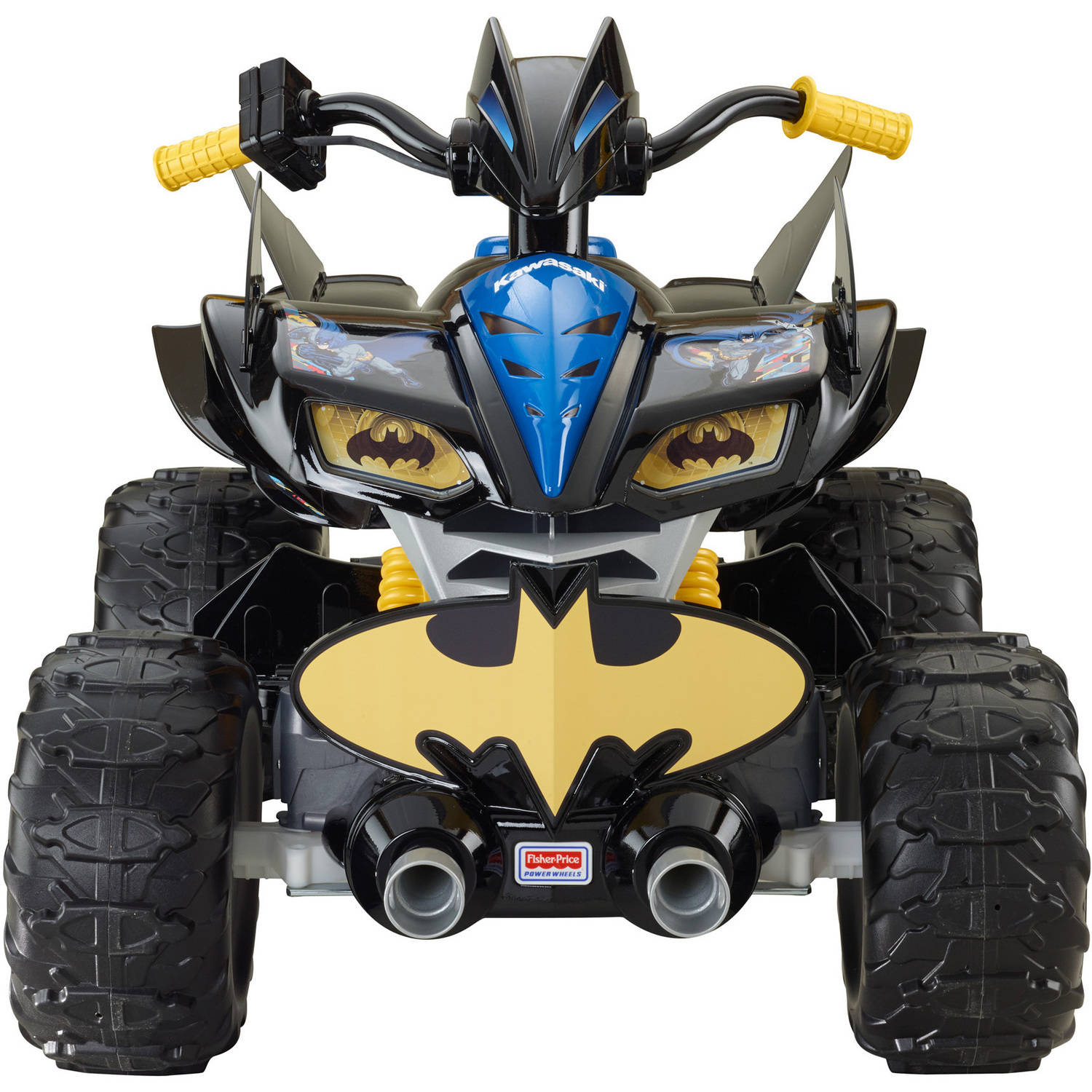 power wheels dc super friends 12 volt battery powered kawasaki batman atv walmartcom