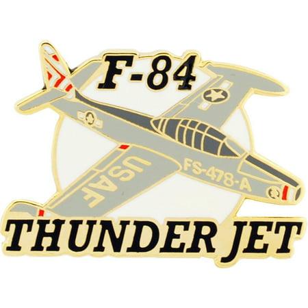 "F-84 Thunderjet Airplane Pin 1 1/2"""