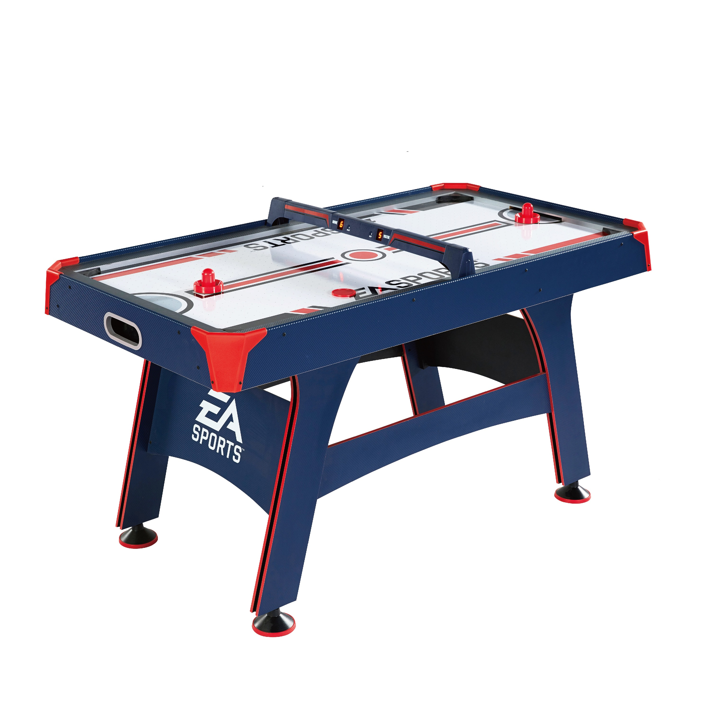 Ordinaire EA Sports 60 Inch Air Powered Hockey Table With Overhead Electronic Scorer,  Blue/Red