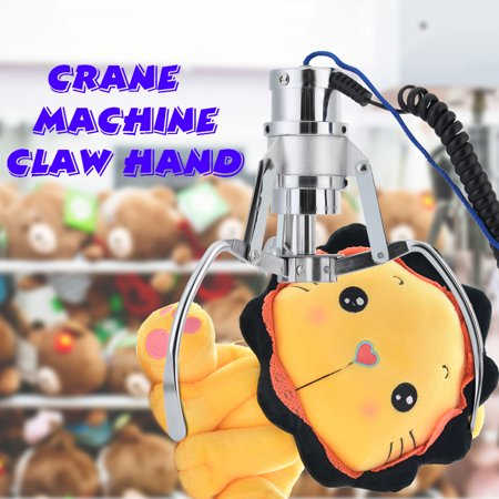 Crane machine mid size replacement claw hand Dolls Toy Gifts Machine Replacement DIY Claw Hand Kit Crane/Claw height 7 inches Crane machine mid size replacement claw hand > 48 volt operation > Height 7 Inches > Candy or Toy Replacement Claw Kit > Kit includes both the claw and engage coil and top cap. > Crane Machine Claw Coil for 24 to 48 volt (20 ohm) claws Wiring Notes: This claw coil comes with four wires:Red, White, Blue and Yellow. 1. The yellow and Blue get wired together 2. The Red and White get wired together This make the two wire connection needed for both 24v to 48v AC claw units.