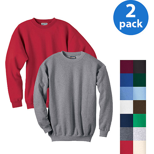 Hanes Men's Hanes Ultimate Cotton Fleece Crew, 2 Pack