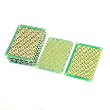 Unique Bargains 70mmx50mm Prototype Perforated Glass Fiber PCB Circuit Board Breadboard